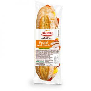 Baguette Le Goûteux Poulet Oeuf Tomate 145G