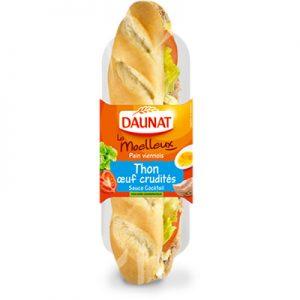 Baguette Le Moelleux Thon Oeuf Crudités 230G