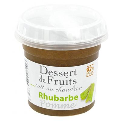 Dessert de Fruit Pomme Rhubarbe