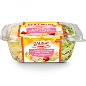 Salade Tout Simplement Jambon Emmental Pâtes Crudités Daunat