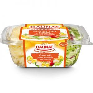 Salade Tout Simplement Poulet Rôti Pâtes Crudités Daunat