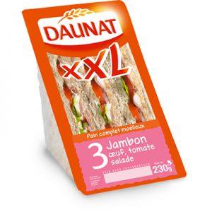 Triangle XXL Jambon Tomate Oeuf Salade